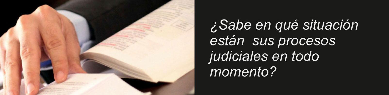 ¿Sabe en qué situación están sus procesos judiciales en todo momento?
